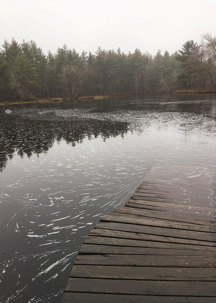 Canoe dock on Big Dam Lake