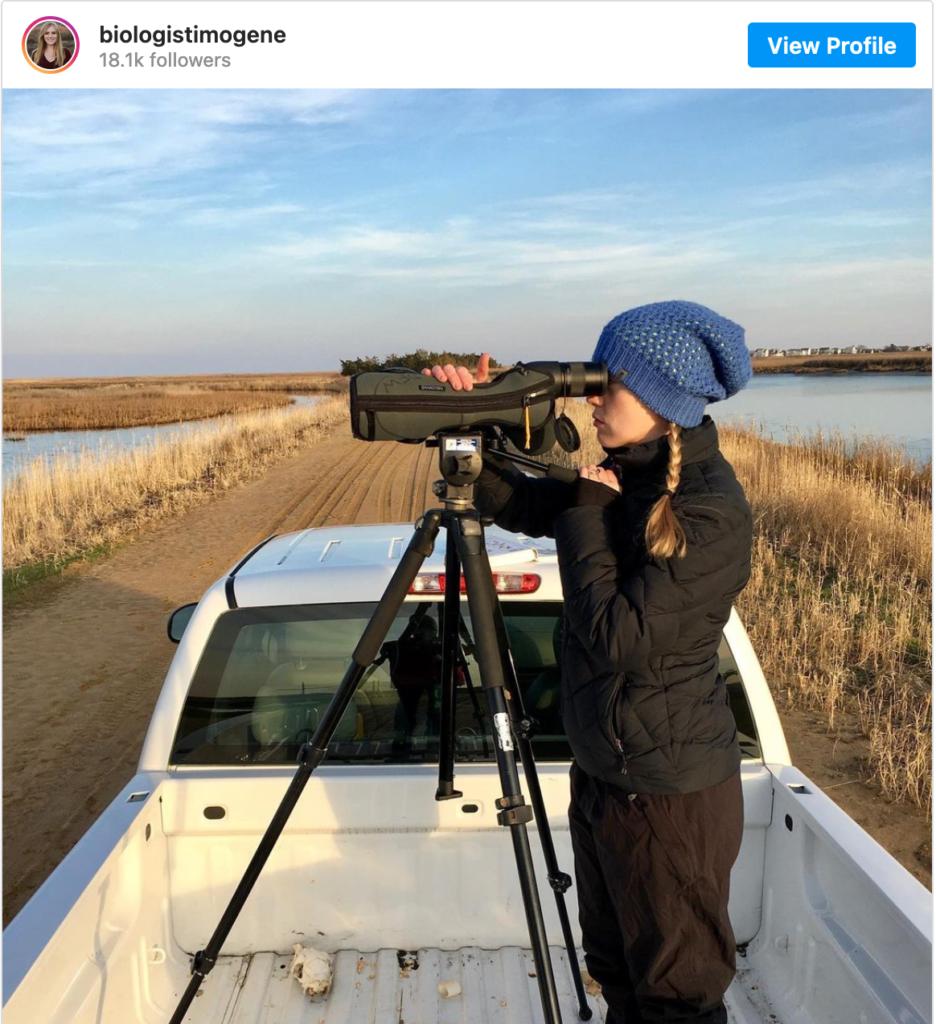Imogene Cancellare - women scientists to follow on Instagram