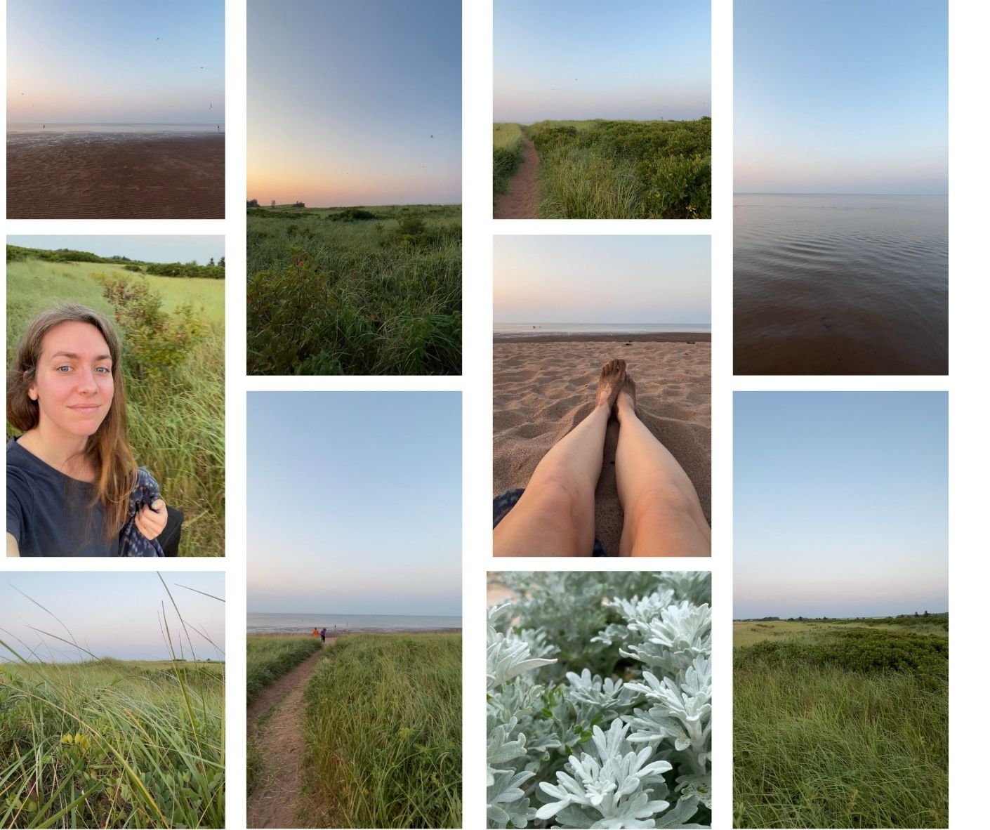 Collage of Waterside Beach Provincial Park.